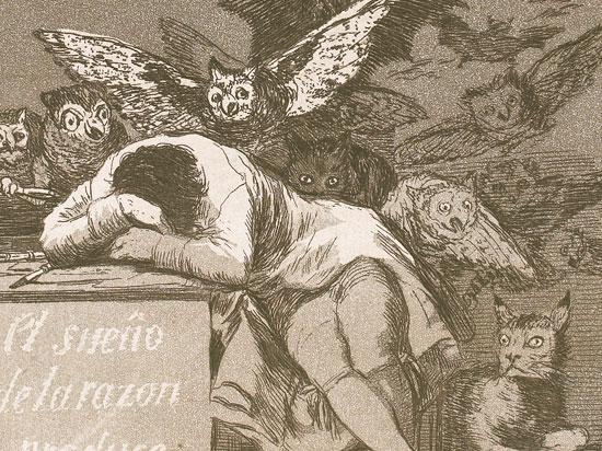 """Goya: """"Le sommeil de la raison engendre les monstres"""""""