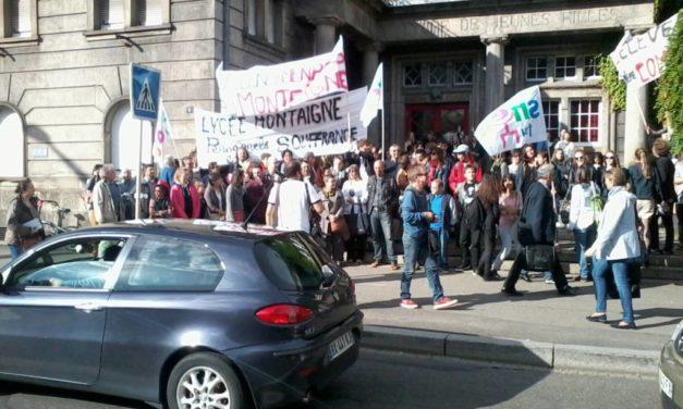 Les casseurs de l'Éducation Nationale au Lycée Montaigne de Mulhouse…