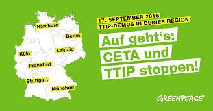 Mobilisierung gegen TTIP/CETA in Deutschland