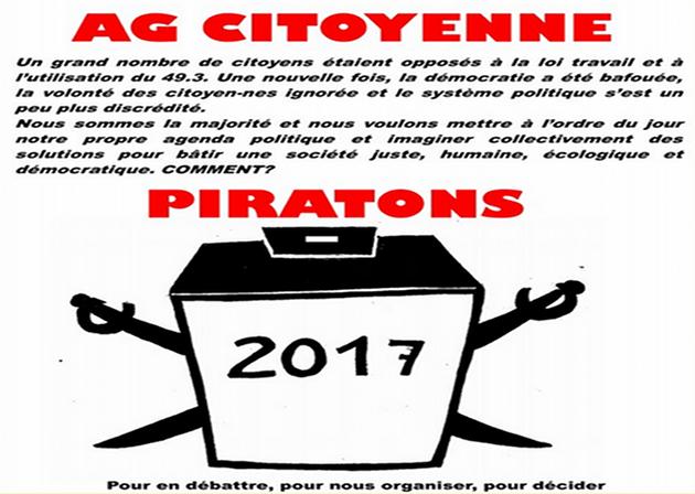 """Elections : des pirates haut-rhinois à l'assaut du fameux """"piège à cons"""""""
