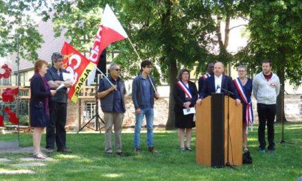Hommage syndical franco-allemand aux résistants et victimes du nazisme