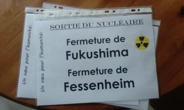 """Mulhouse loves Japan"", Japan loves nuclear free !"