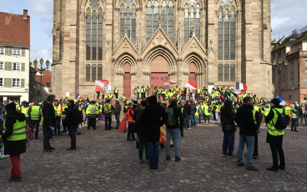 Acte 13 des gilets jaunes à Mulhouse, entre rejets et désirs