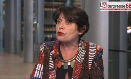 Au parlement européen de Strasbourg, Michèle Rivasi s'exprime sur Stocamine
