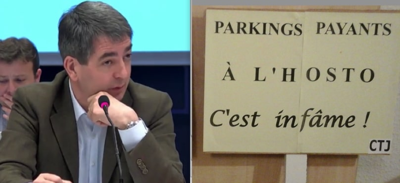 A Mulhouse, Jean Rottner travaille du ticket (jaune)