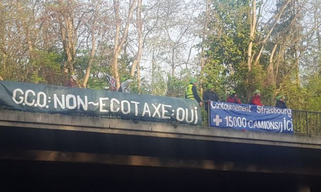 Des banderoles anti-GCO valent une comparution devant le TGI de Strasbourg