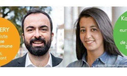 """Rencontre-débat sur les transports avec Karima Delli (députée EELV), a l'invitation du candidat de la liste """"cause commune"""" aux municipales de Mulhouse"""