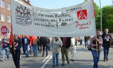 la Confédération allemande des syndicats (DGB) dénonce les conditions de chômage partiel, les restrictions budgétaires et les privatisations du système de santé