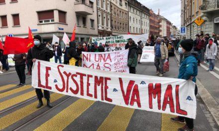 A Bâle, manifestation du premier mai à l'appel des écologistes