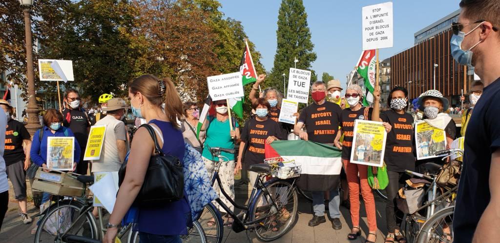 A Strasbourg, une action d'opposants à l'équipe cycliste israélienne engagée dans le Tour de France