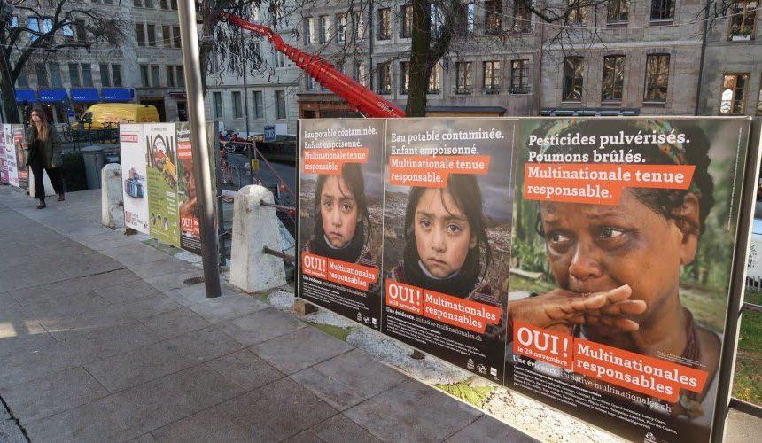 Chez nos voisins suisses, un double rejet lors des votations pour des « entreprises responsables » et « pour une interdiction des producteurs de matériels de guerre ».