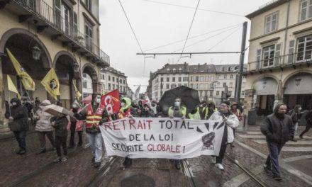 A Mulhouse, un rassemblement contre la loi de sécurité globale