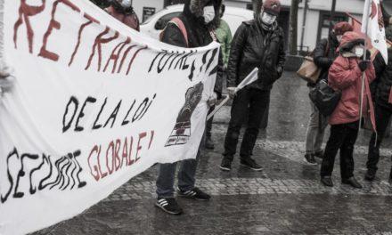 Manifestation contre la loi de sécurité globale à Mulhouse: sale temps pour les libertés !