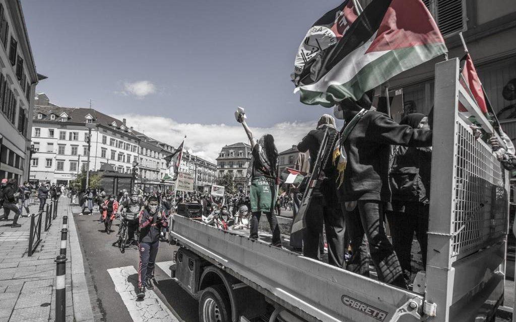 A Mulhouse, plusieurs centaines de manifestants défilent en soutien à la Palestine