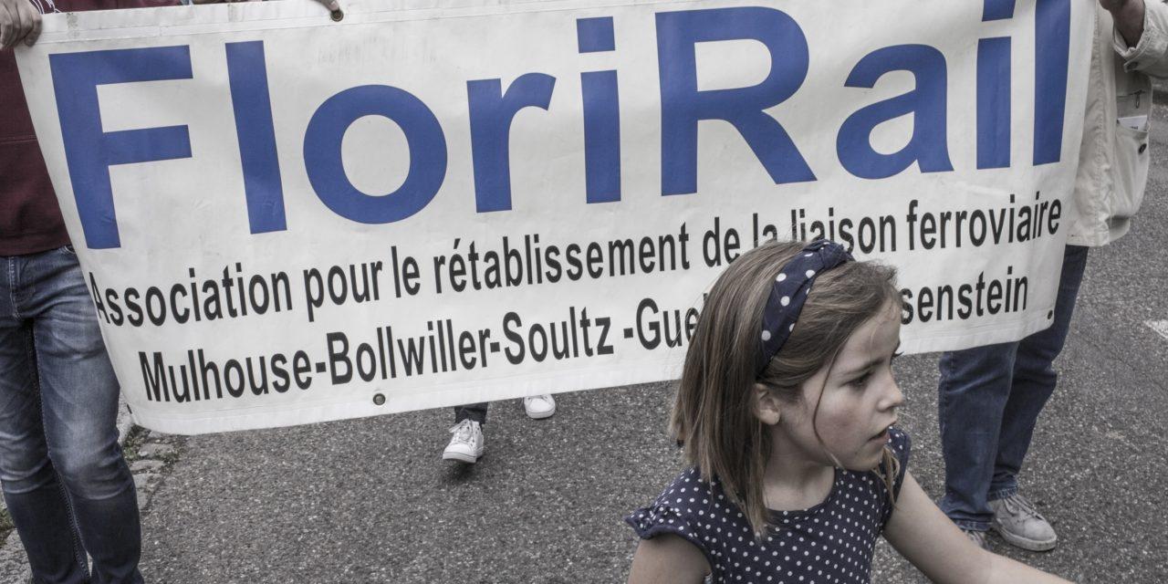 Manifestation entre Soultz et Guebwiller pour réclamer le retour de la ligne ferroviaire