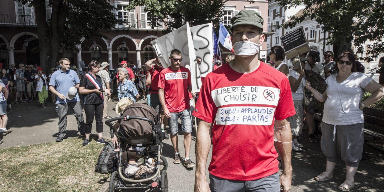 Sixième mobilisation contre le pass sanitaire à Mulhouse