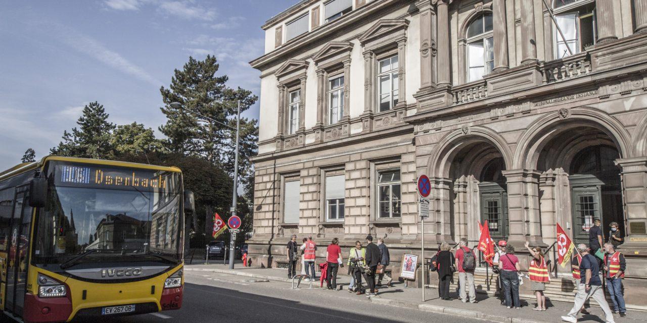 Poursuite de la grève à Soléa : des syndicalistes convoqués devant le tribunal à Mulhouse