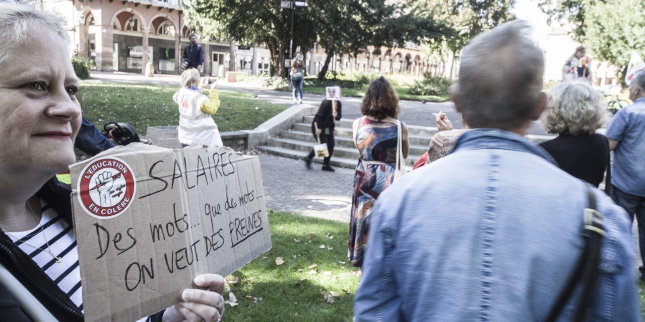 Manifestation d'enseignants à Mulhouse dans le cadre de l'appel national à la grève du 23 septembre