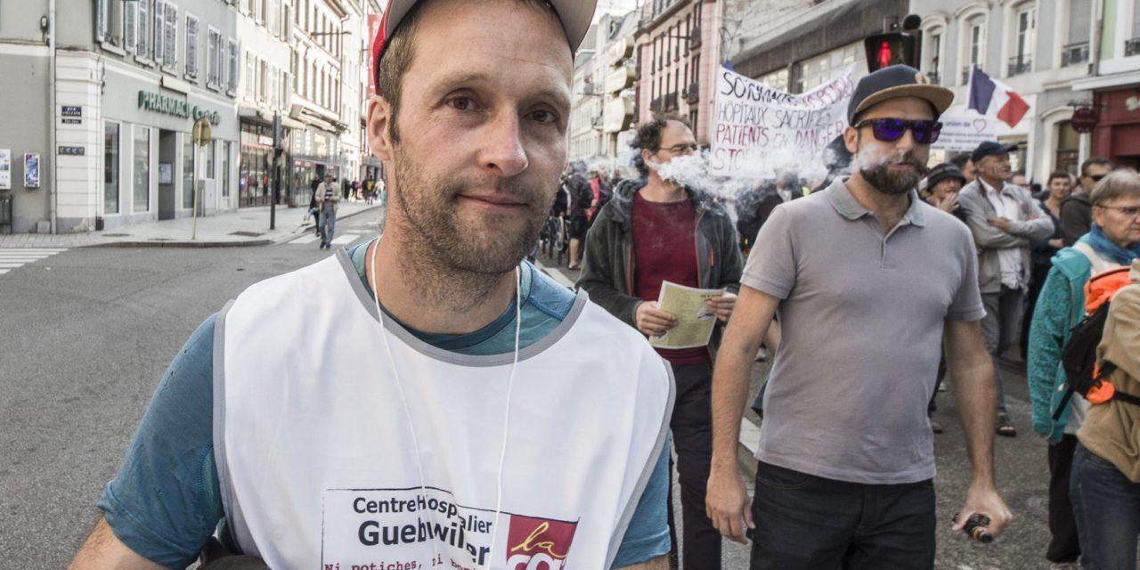 A Mulhouse, treizième manifestation contre le passe sanitaire et la suspension des personnels desanté